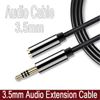 New Stereo 3.5mm Audio Jack Extension Cable Male to Female Headphone Aux Cord