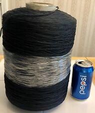 Huge 5.75 Lbs. Rayon Nylon Ric Rak 2100 Boucle Knitting Weaving Crochet Blue