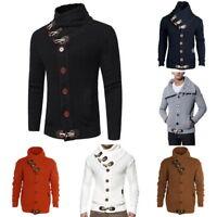 Fall Winter Turtleneck Cardigan Men Sweater Coat Slim Fit Warm Knitting CoatGIFT