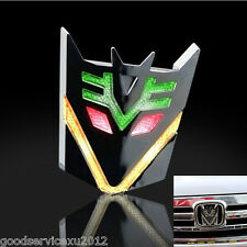 3D Transformers Decepticon Emblem Car Solar Power LED Flash Strobe Light Sticker