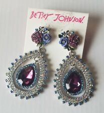 Earrings Fashion Jewelry Unbranded Light Blue Rhinestone Teardrop Dangle Chandelier Fashion Earrings Chic