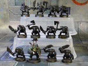 Ork Boyz Choppa Squad Warhammer 40k Games Workshop Painted (R248)