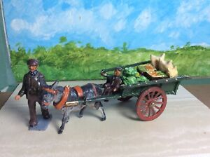 Early Taylor & Barratt Coster Monger & Son + Cart And Donkey / Britains Farm