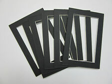 Picture Framing Mats 4x6 for 3x5 small size photo Black-set of 6 acid free