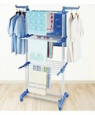 Home Deals 3 Layers Stainless Folding Clothing Rack Hanger