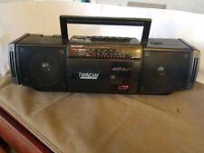 Vintage Sharp Wq-T222C, Am/Fm stereo ,double (sandwich) cassette boombox radio