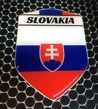 "Slovakia Slovenská Proud Shield Domed Decal Emblem Car Sticker 3D 2.3""x3.3"""