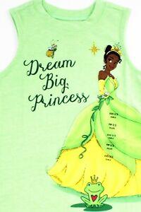 "Disney Princess Tiana T-Shirt ""Dream Big Princess"" Child Top Size 2/3 XXS"