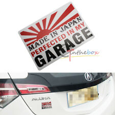 (1) JDM Japanese Style MADE IN Japan Rising Sun Sticker Decal For Car SUV Truck
