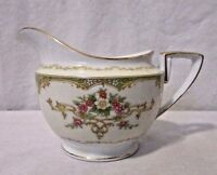 Antique Noritake Creamer, Cream and White With Gold Accents Floral  Japan
