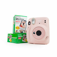 Fuji Instax Mini 11 Instant Camera Blush Pink Instant Picture Party Camera + 2DP