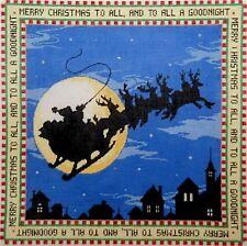 Needlepoint Handpainted Christmas Sandra Gilmore Merry Christmas 15x15