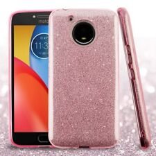 PINK SILVER Glitter Hybrid Cover CASE + GLASS SCREEN FOR MOTOROLA Moto