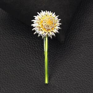Betsey Johnson Women's Enamel Dandelion Flower Charm Brooch Pin Jewelry Gift
