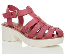 Sandali e scarpe blocchetti rosa casual per il mare da donna