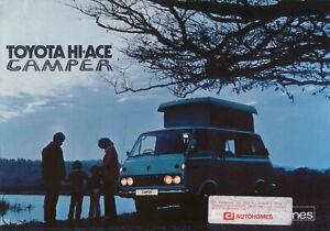 Toyota Hi-Ace CI Camper Caravan 1972-74 Original UK Market Sales Brochure