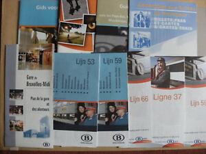 10 Belgian Railway Train Timetables Maps Leaflets 2004 - 2012 SNCB NMBS Set 5