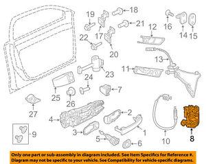 VW VOLKSWAGEN OEM 12-17 GTI-Door Lock Kit 5K1837015J