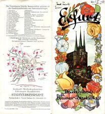 Reiseprospekt inkl. Beilagen Erfurt / 1928
