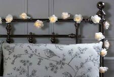 20 LED White Rose Flower Fairy Lights String Light Roses Home Deocration Bedroom