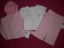 IZOD NWT 3 Piece Set Pink Capri & Jacket White Tee 3T