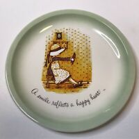 """1972 Vintage Holly Hobbie Plate Collectors Edition """"A Smile Reflects A Happy..."""""""