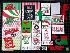ELF SURVEILLANCE Scrapbook Kit! Project Life, Paper, die cuts, Christmas Elf,