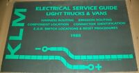 KLM Electrical Service Guide Light Trucks and Vans 1988