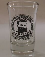 Ned Kelly SHOT GLASS Clear 50mL souvenir Party round border design nip cup NEW
