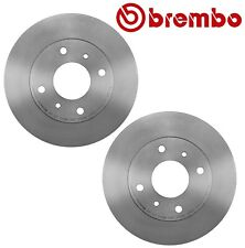 For Infiniti G20 Nissan 240SX Pair Set of 2 Front Disc Brake Rotors 257mm Brembo