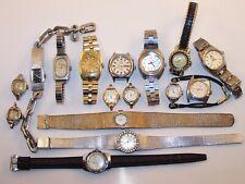 Women's Vintage Watch Lot Bulova Nivada Orient EDDOX Sears Diver,Citizen 17J+++