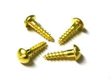 100 Stück MINI-Holzschrauben DIN 96 (Schlitz) Messing 2mm Durchmesser