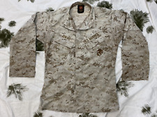 More details for us marine corps usmc marpat camouflage mccuu blouse / coat well used small long