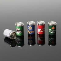 5x Kinds Beer Cans Drinking Bar Beer 1:12 Dollhouse Miniature Kids Fun Toy Gift.