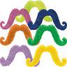 Rubies Handlebar Moustaches Colored & Black Light PLUR Novelty