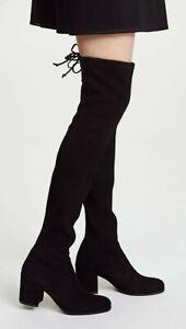 "Stuart Weitzman Black Suede Over-the-knee boots, Size 39.5 ""Tieland"""