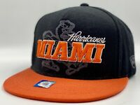 Miami Hurricanes Canes NCAA College Strap Back Flat Bill Cap Hat