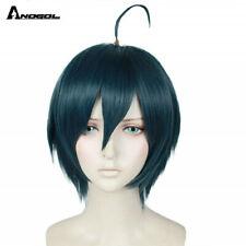 Anogol Danganronpa Saihara Shuichi Cosplay Wigs for Men Halloween Costumes Hair
