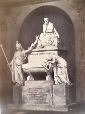 Large 19th c. Fratelli Alinari Silver Print No. 8 Statue of Dante Alighieri