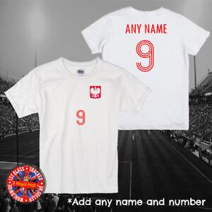 Poland, Polska Inspired Personalised Kids Football T-shirt, Gift