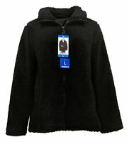 32 Degrees Women's Sz L Full Zip Fleece Jacket w/ Long Sleeve Black