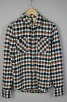NUDIE JEANS Men's X SMALL Flannel Casual with Patch Pockets Shirt 18182-JS