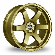 """18"""" BOLA B1 ALLOY WHEELS TO FIT VAUXHALL ASTRA VECTRA CORSA VXR GOLD"""