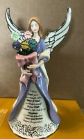 Angel Figurine I Believe  - Bradford Editions Angels Wishes Heirloom Porcelain