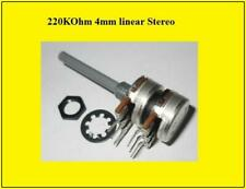 OMEG Poti Dreh - Potentiometer 220K Ohm 0,25W Stereo Linear 1 Stück