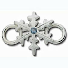 LeStage Convertible Snowflake Winter Clasp Sterling Silver with Aqua Marine CZ