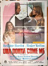 manifesto 2F film DON JUAN 73 UNA DONNA COME ME Brigitte Bardot Roger Vadim 1973