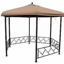 Deluxe Hexagon Gazebo 3.5m with blinds / curtains
