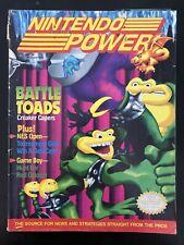 VINTAGE NINTENDO POWER MAGAZINE NES 25 - BATTLETOADS W/POSTER & PROMOS!