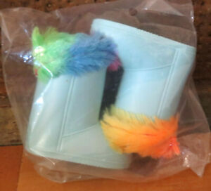 """American My Life Clothes Rainbow Faux Fur Boots Shoes 18"""" Doll Girl Clothes NEW!"""
